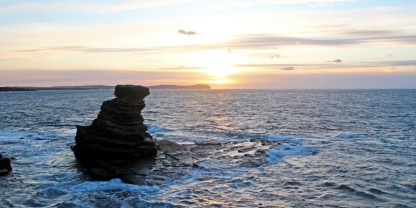 Photo of sunset over Dunnet Head, the most northerly point of the British mainland