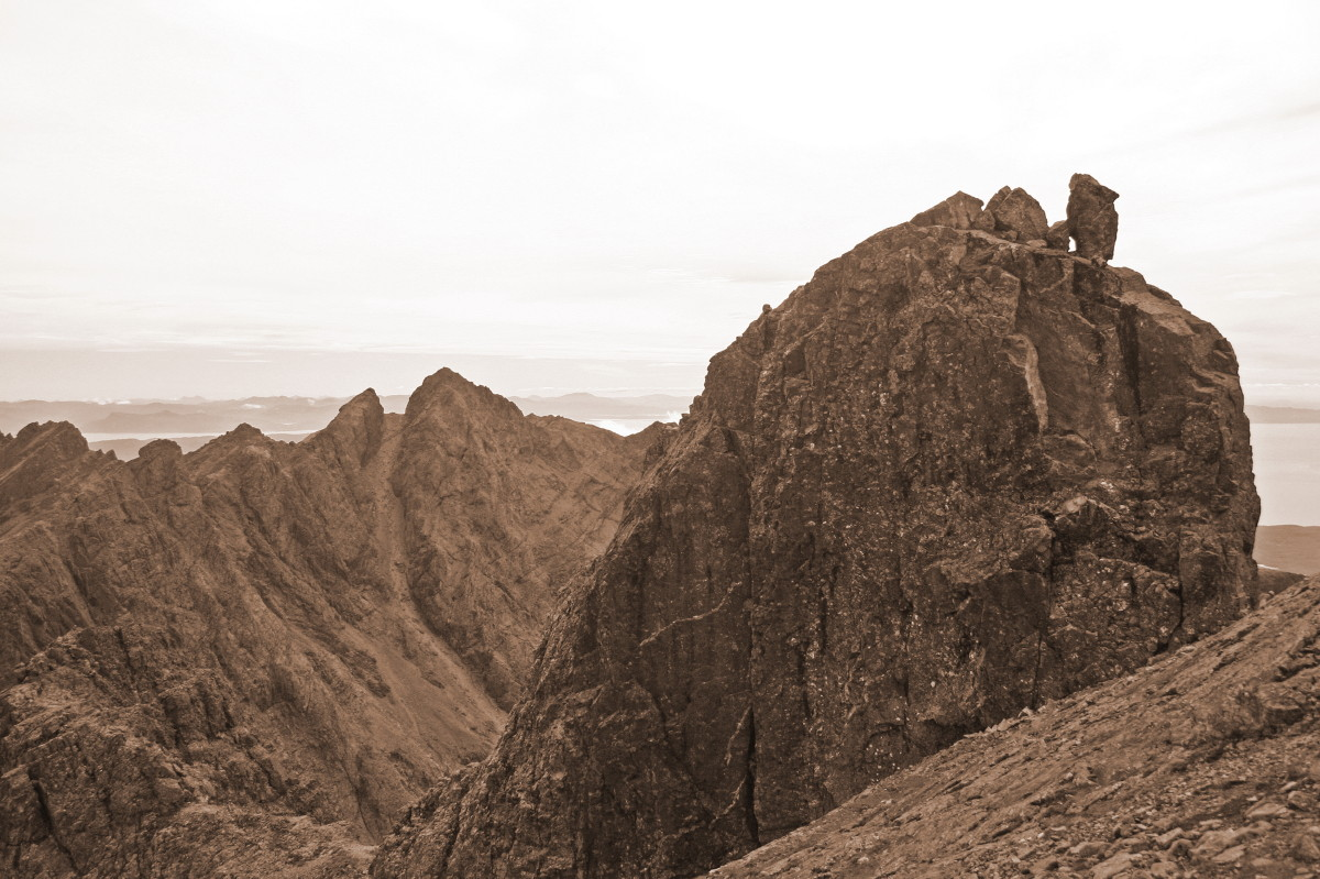 Photo of Sgurr Alasdair and the Inaccessible Pinnacle from Sgurr Dearg.