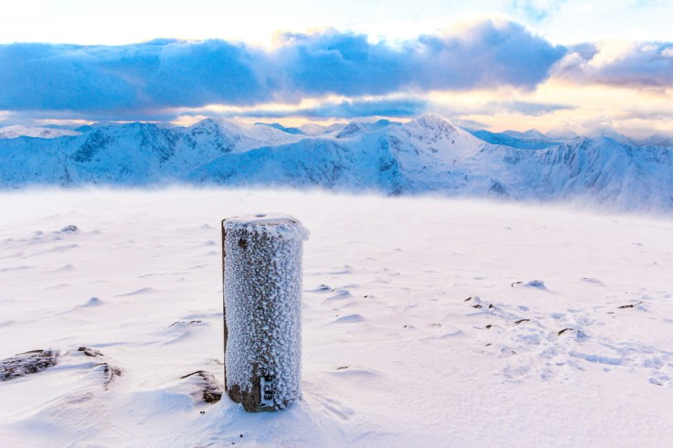 Photo of the summit of Beinn Fhada on a midwinter afternoon