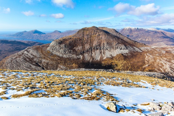 Photo of the Corbett, Meall a'Ghiubhais, with Loch Maree behind