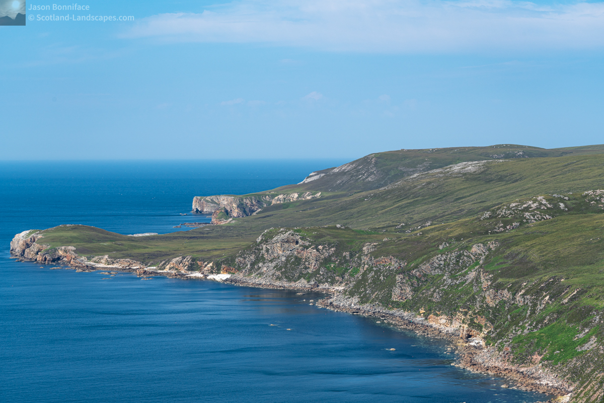 North to Whiten Head (An Ceann Geal)