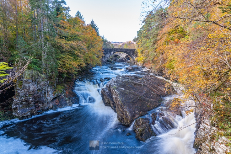 Photo of the Invermoriston Falls on the River Moriston