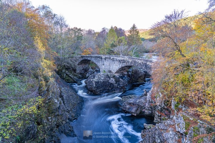 Photo of the old bridge at Invermoriston; designed by the famous engineer and architect Thomas Telford and built in 1813