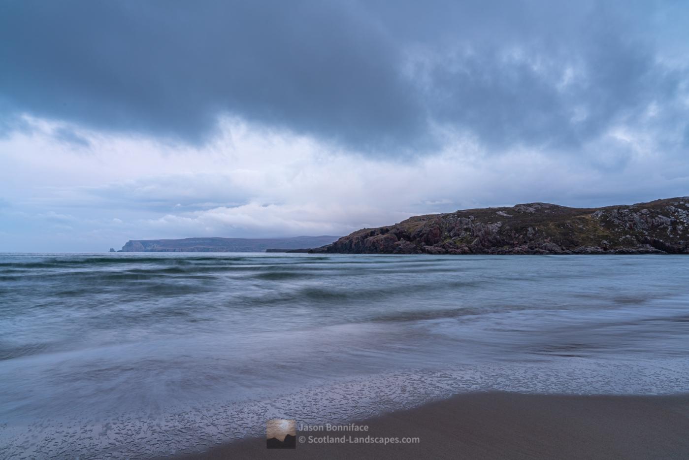 Late afternoon on beautiful Ceannabeinne beach (Traigh Allt Chailgeag)
