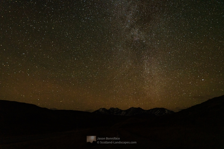 The Milky Way above An Teallach