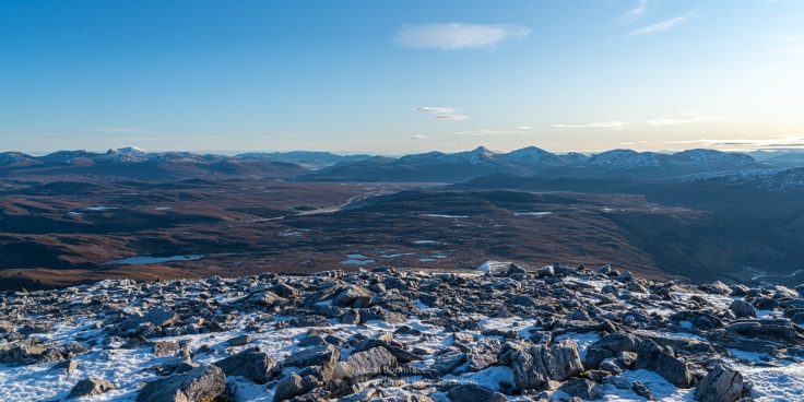 Beinn Dearg and the Fannichs from Sail Liath