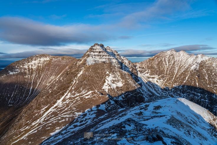 An Teallach Peaks from Stob Cadha Gobhlach