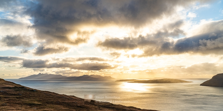 Afternoon Light Over Rum and Soay, Skye