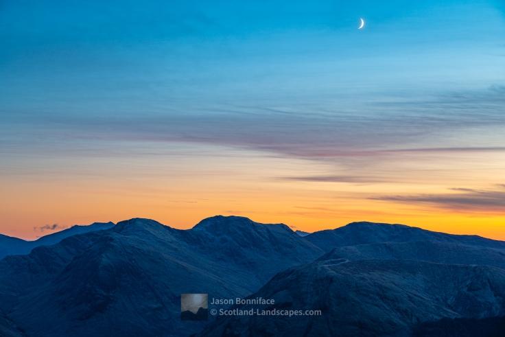 Moon Over Sgor na h-Ulaidh, Glencoe