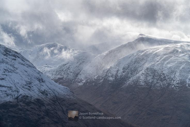 Windswept Stob Coir' an Albannaich, Glen Etive