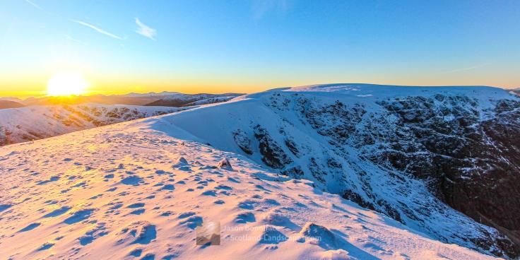 Christmas Eve Sunset - Creag Meagaidh, Lochaber