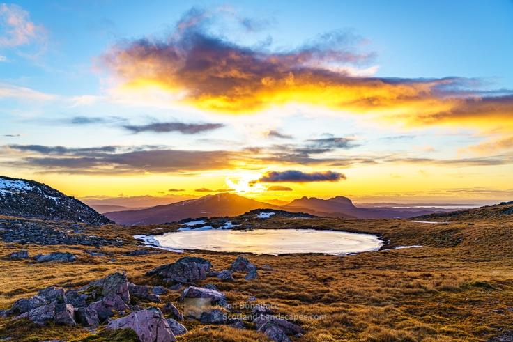 Afternoon Glow, Glas Bheinn Summit Plateau, Assynt & Ullapool