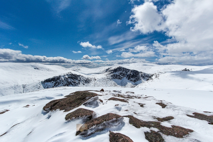 Mheadhoin, Etchachan and Macdui May Snow, Cairngorm