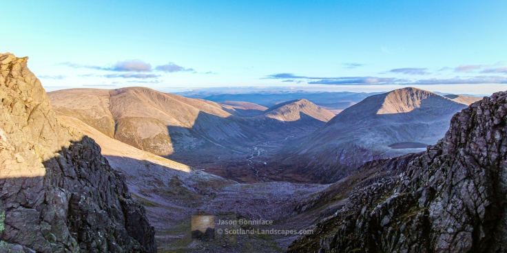 Evening Light, Ben Macdui and Cairn Toul, Cairngorm