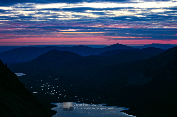 Summer Night, A View Down Gleann Eanaich, Cairngorm