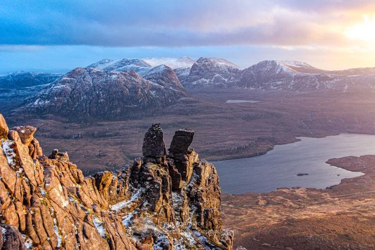 Evening Light, Ben Mor Coigach from Stac Pollaidh, Assynt & Ullapool